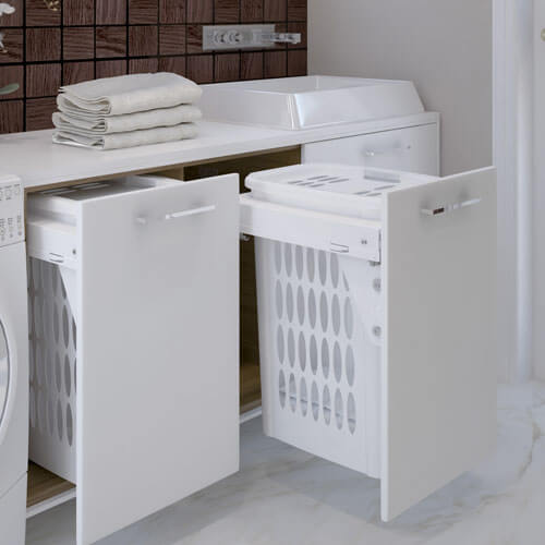 les paniers linge int gr s pour la salle de bain. Black Bedroom Furniture Sets. Home Design Ideas