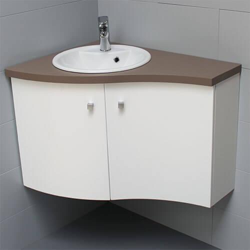 Meuble de salle de bains d 39 angle atlantic bain - Meuble de salle de bain d angle ...