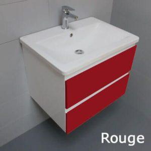 Meuble look 63 2 tiroirs et vasque c ramique atlantic bain for Petit meuble salle de bain a suspendre