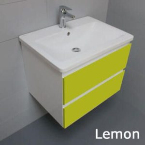 Meuble Look 63 - 2 tiroirs et vasque céramique - Atlantic Bain