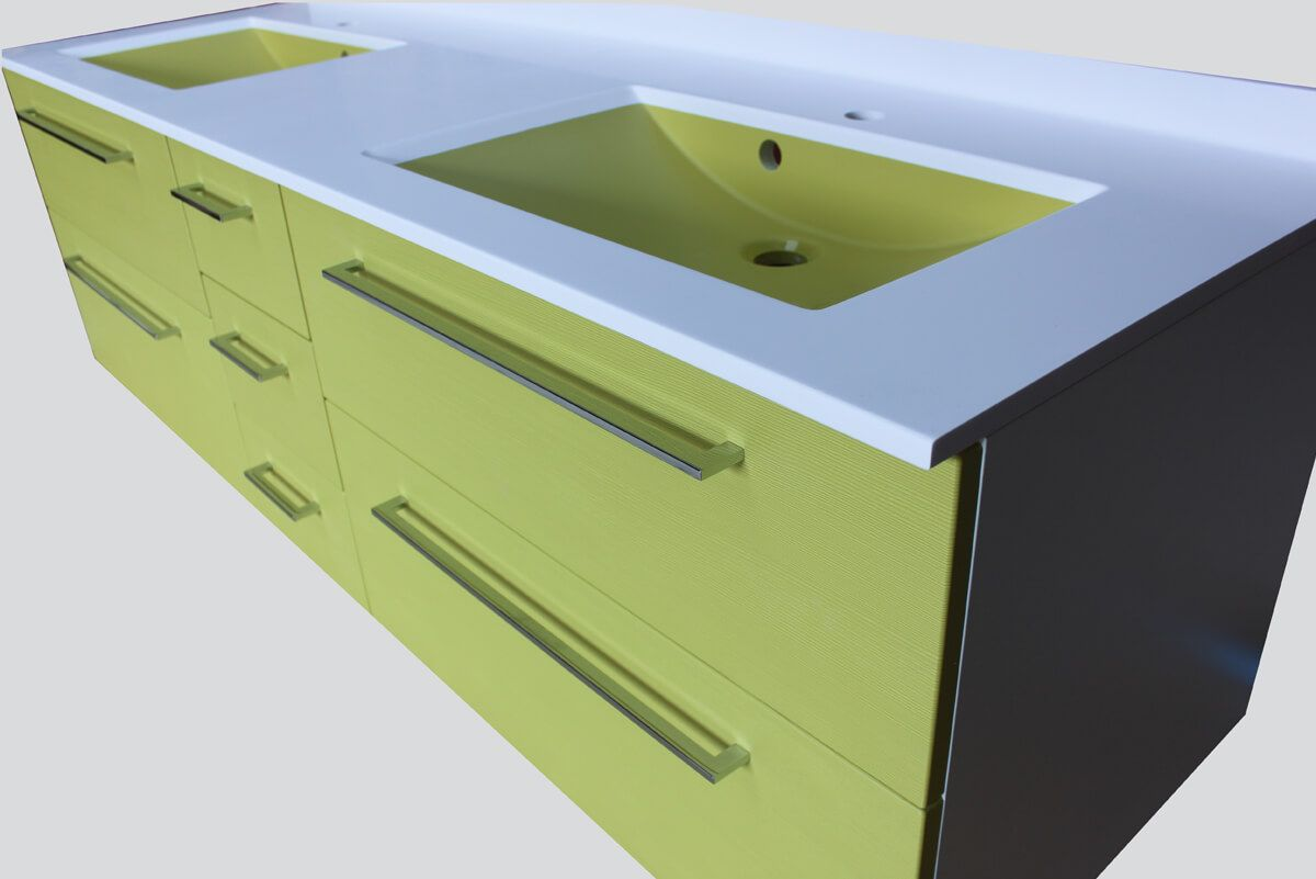 Meubles et vasques vert anis - Atlantic Bain