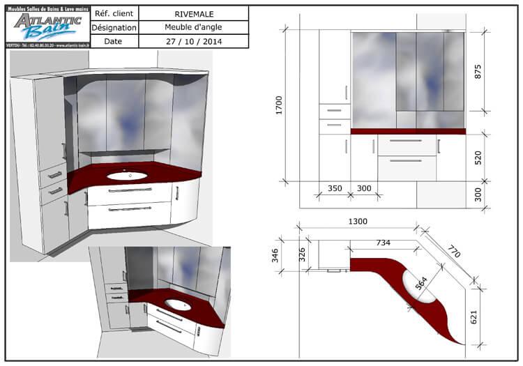 agencement d 39 un angle de salle de bains atlantic bain. Black Bedroom Furniture Sets. Home Design Ideas