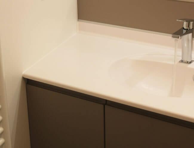 Meuble double vasque encastr entre 2 murs en biais atlantic bain - Cree un meuble salle de bain en dur ...