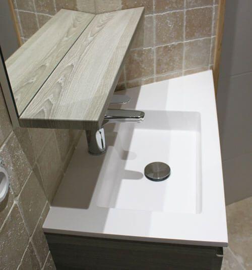 meuble vasque salle de bain petite profondeur best meuble de salle de bain finition laqu. Black Bedroom Furniture Sets. Home Design Ideas