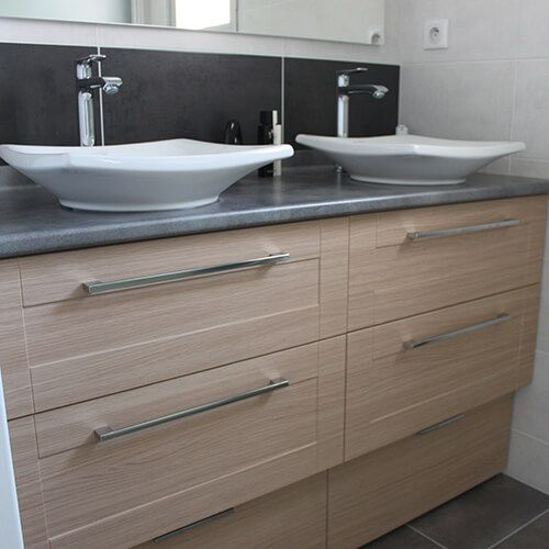 Vasques a poser atlantic bain for Meuble salle de bain double vasque a poser