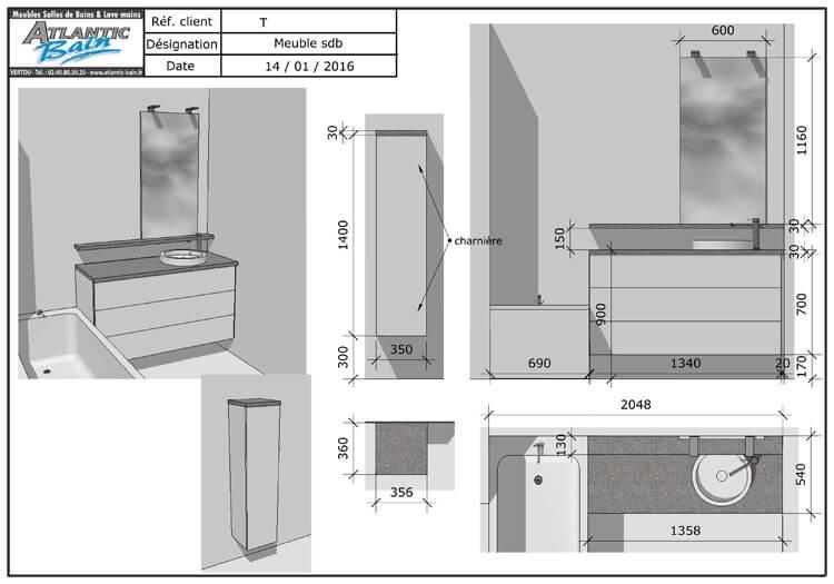 Plan salle de bains latest plan maison chambres salles de for Plan de salle de bain en ligne