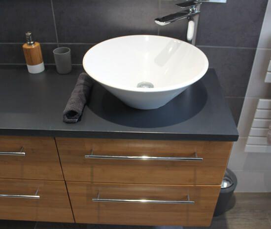 meuble salle de bain peu profond best ensemble meuble de salle de bain avec vasque miroir. Black Bedroom Furniture Sets. Home Design Ideas
