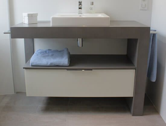 meuble design b ton cir et verre laqu atlantic bain. Black Bedroom Furniture Sets. Home Design Ideas