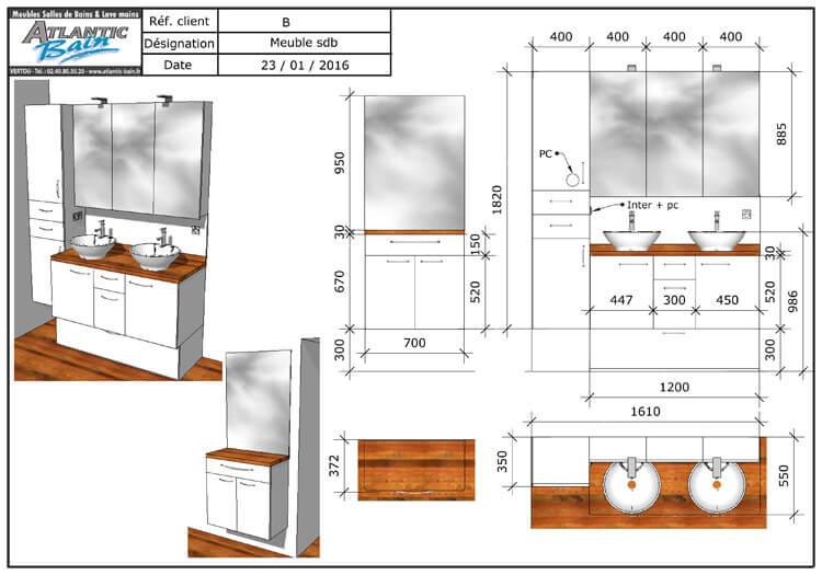Un meuble de salle de bain fonctionnel avec du rangement for Lavabo a poser salle de bain