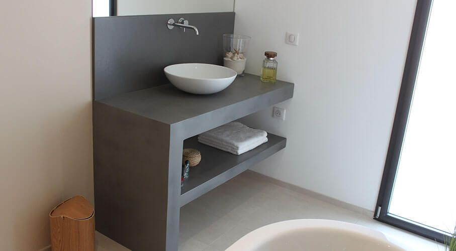 meuble salle de bain beton cire. Black Bedroom Furniture Sets. Home Design Ideas