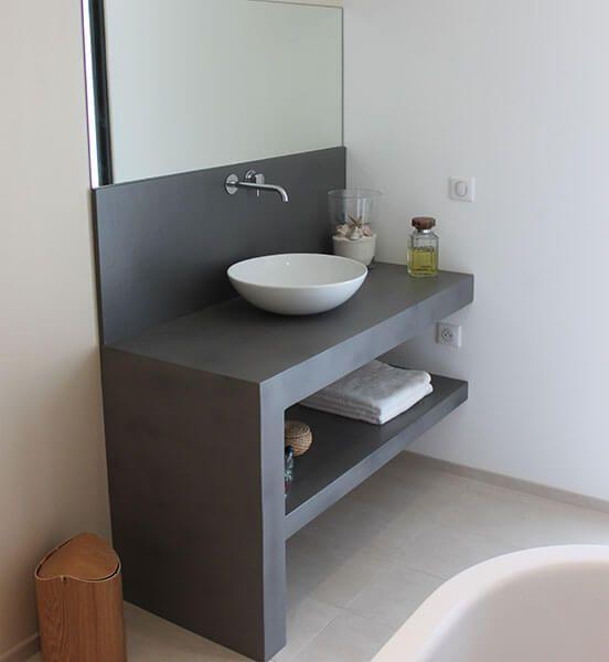 meuble simple et design en b ton cir atlantic bain. Black Bedroom Furniture Sets. Home Design Ideas