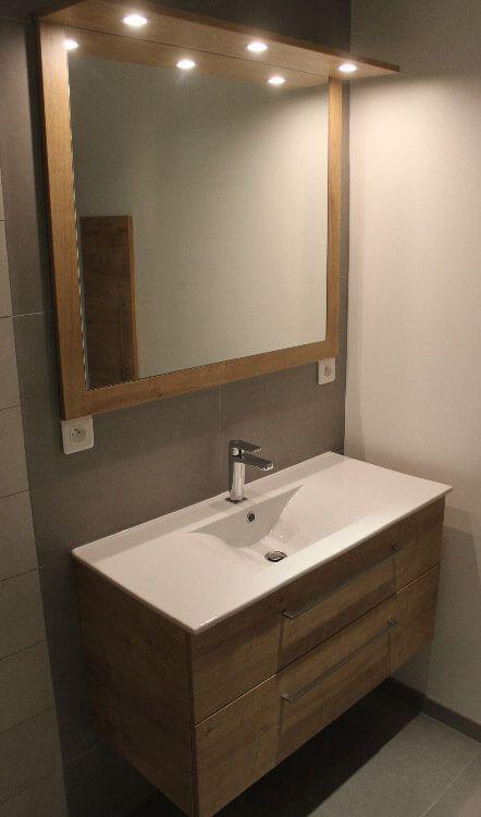 meuble salle de bain bois chene