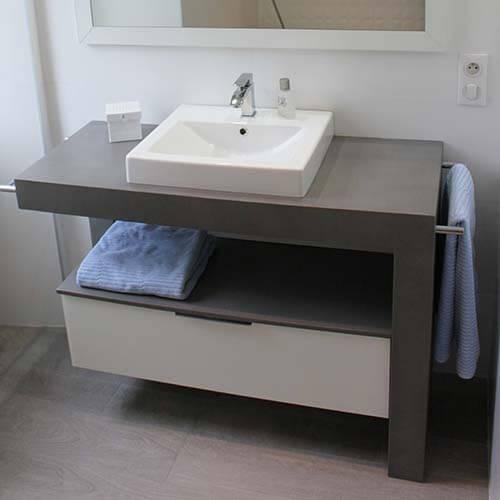 Vesta meuble b ton cir atlantic bain for Ou trouver meuble salle de bain