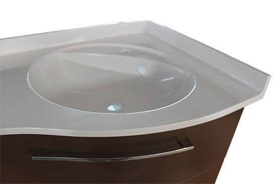 un meuble d 39 angle couleur chocolat atlantic bain. Black Bedroom Furniture Sets. Home Design Ideas