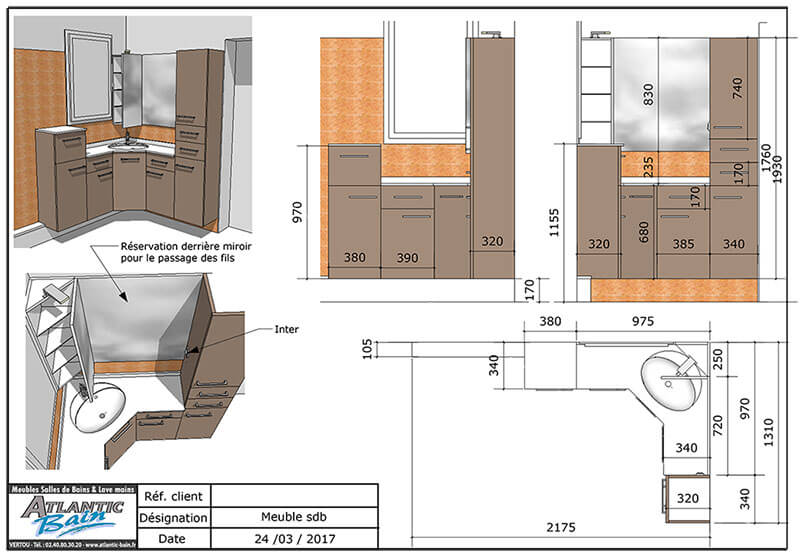 R novation d 39 une salle de bains avec un meuble en angle for Meuble salle de bain en angle
