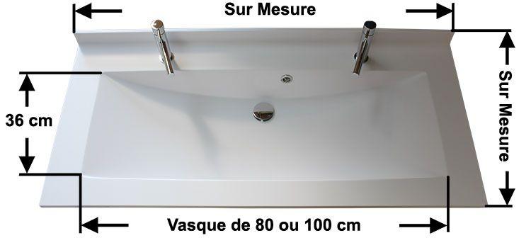 une grande vasque de 1 m et deux robinets atlantic bain. Black Bedroom Furniture Sets. Home Design Ideas