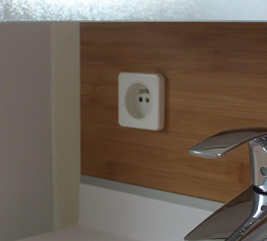 du bambou massif pour ce meuble double vasques de 141 cm atlantic bain. Black Bedroom Furniture Sets. Home Design Ideas