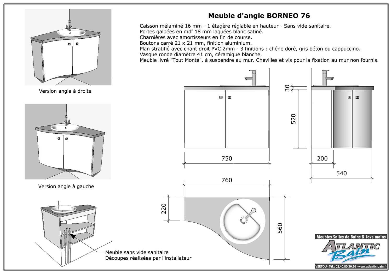 Offre sp ciale rentr e meuble salle de bains d 39 angle - Vide sanitaire meuble cuisine ...