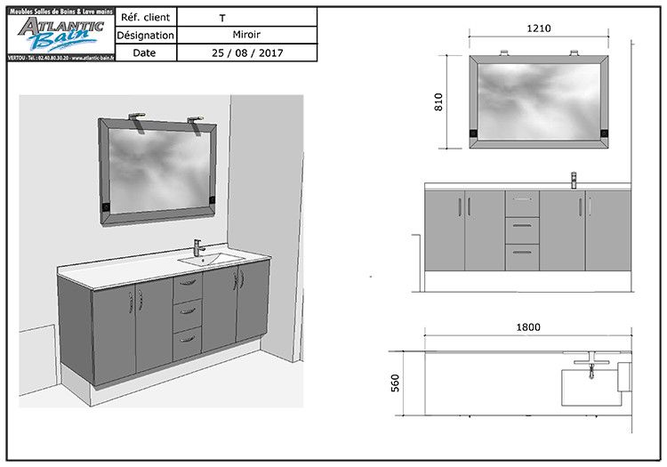 Meuble salle de bain gris anthracite top salle de bain for Meuble de salle a manger gris anthracite