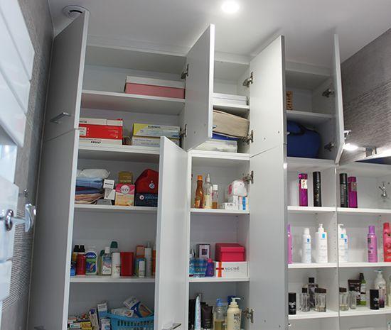 Optimiser le rangement dans votre salle de bain atlantic bain - Accessoire salle de bain dore ...