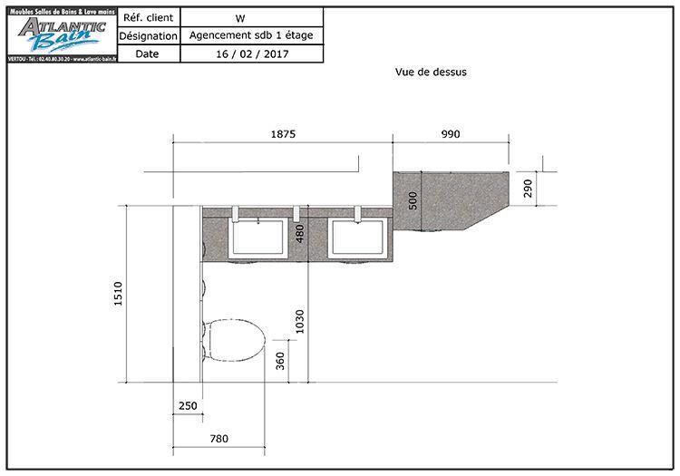 Optimiser le rangement dans votre salle de bain atlantic bain - Plan meuble salle de bain bois ...