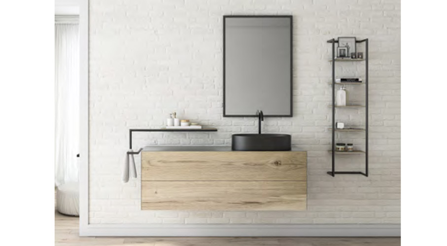 FERRO | Meuble de salle de bain style indutriel bois métal