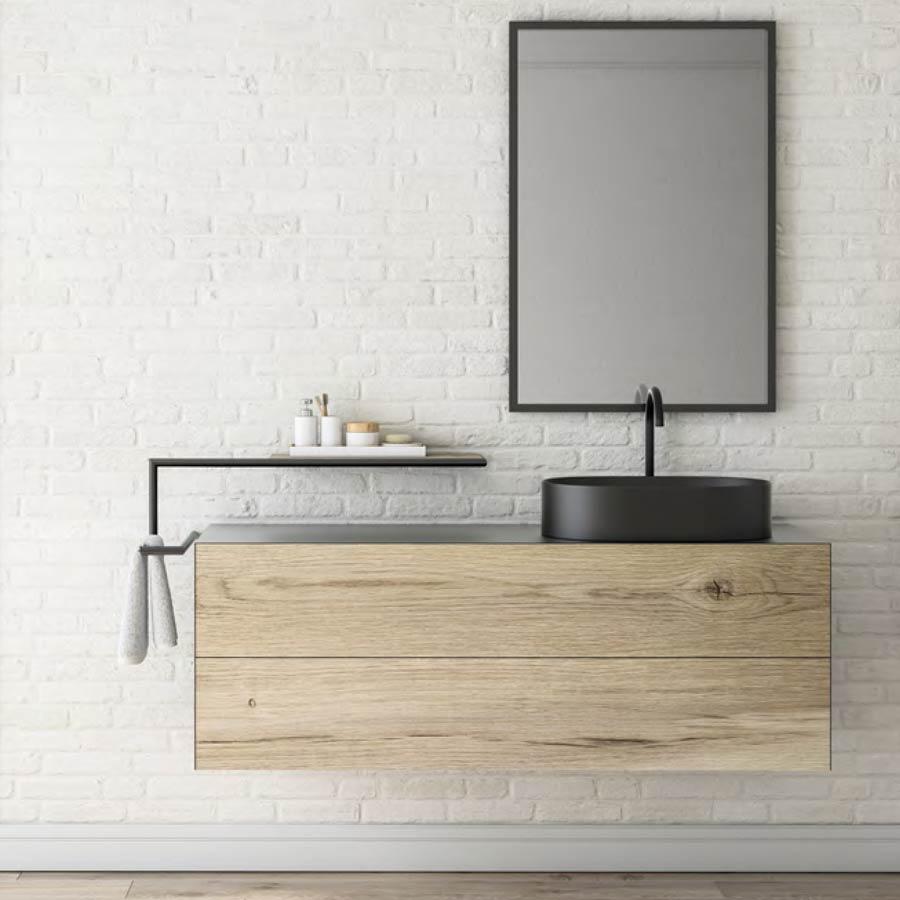 Plan De Toilette Salle De Bain ferro | meuble de salle de bain style indutriel bois m�tal