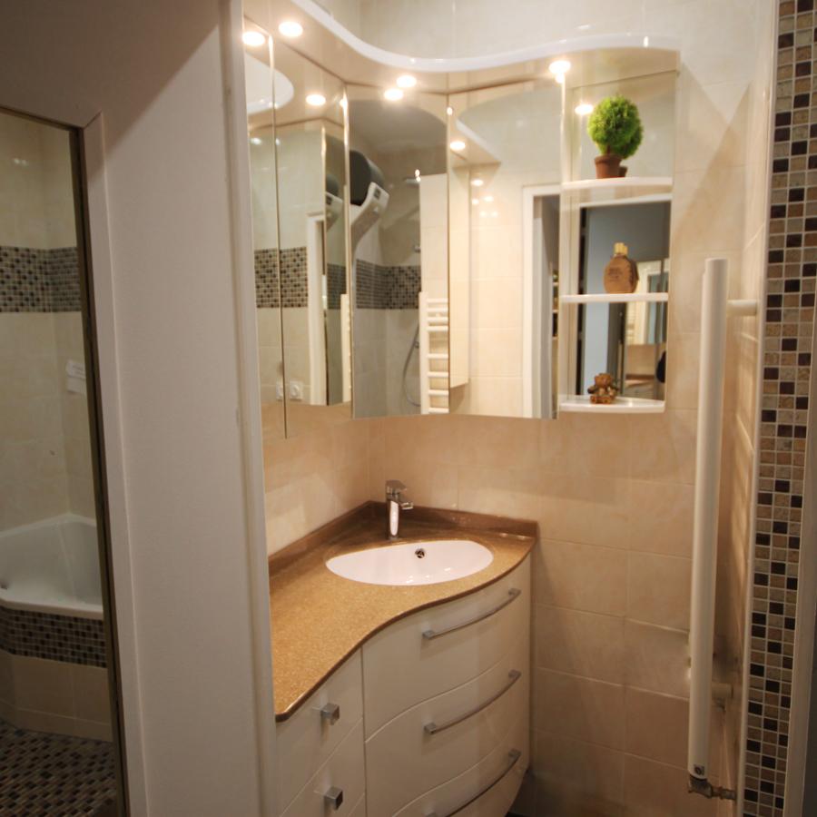 Meuble de salle de bain Meubles Gain de place - Petite salle de bain ...