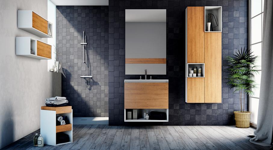 meuble de salle de bain avec lave linge atlantic bain. Black Bedroom Furniture Sets. Home Design Ideas