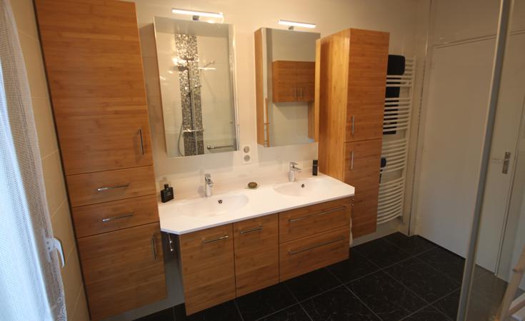 Salle de bains bambou pour une ambiance bois atlantic bain - Decoration salle de bain zen bambou ...