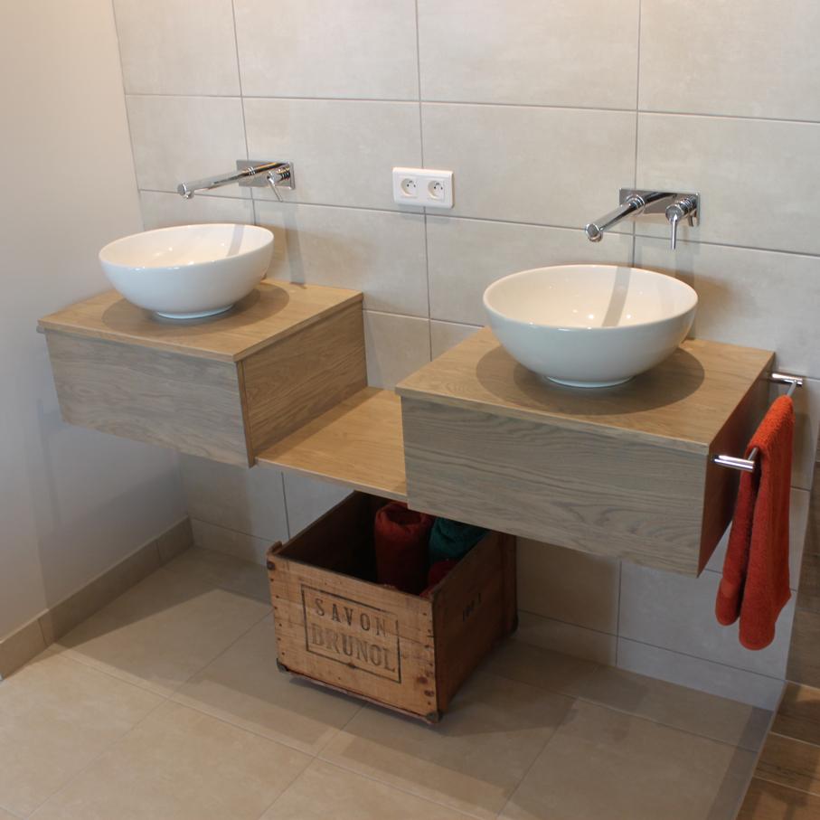 Meubles de salle de bain en bois massif atlantic bain - Meuble salle de bain en bois massif ...