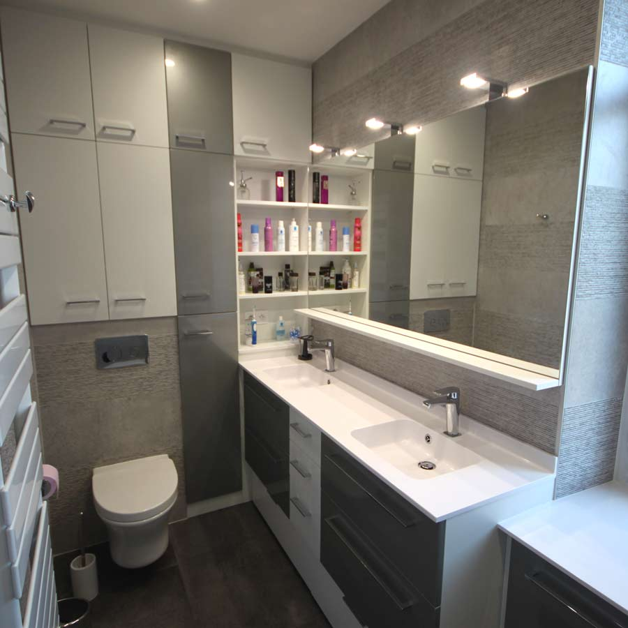 solution amenagement petite salle de bains etroite