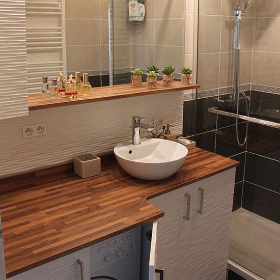 lave linge intégré salle de bains