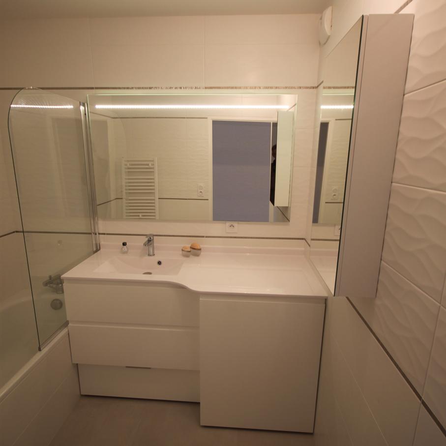 meuble blanc pour lave linge