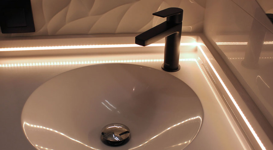 lavabo angle petite salle bain resine