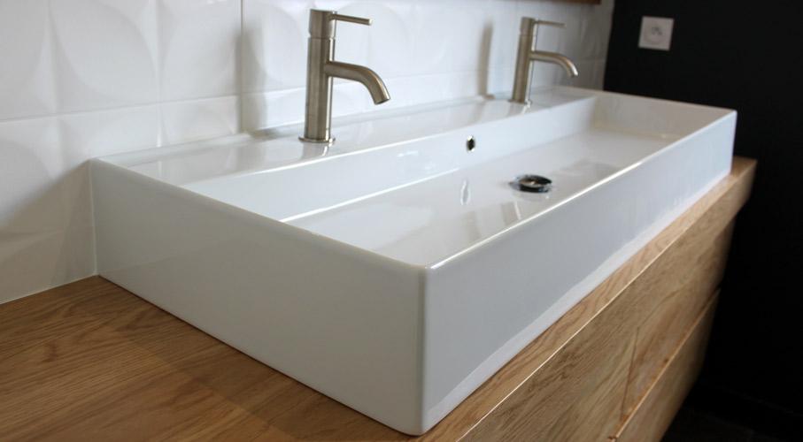 lavabo grande cuve ceramique blanc