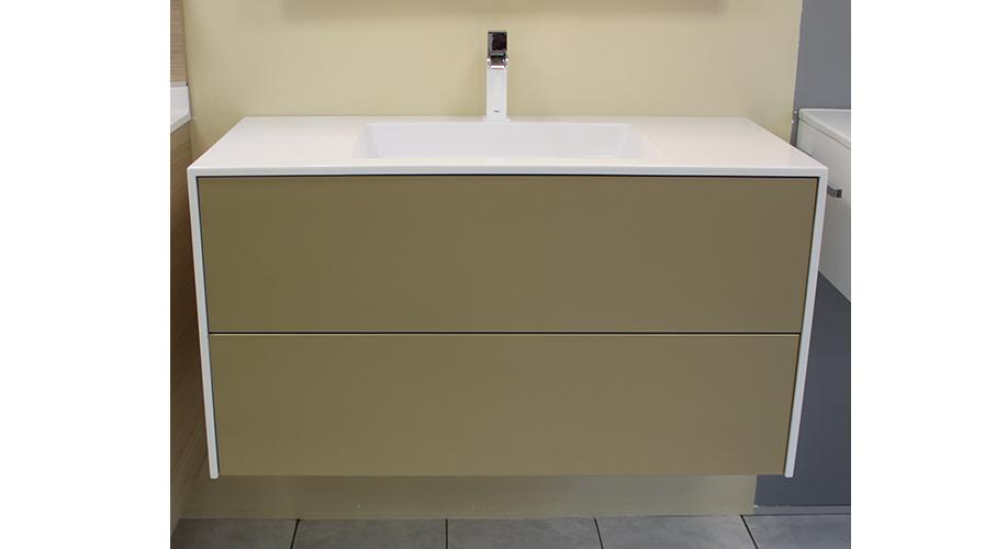 meuble couleur champagne salle bain