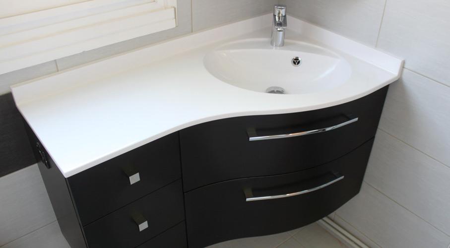 meuble angle tiroir salle bain