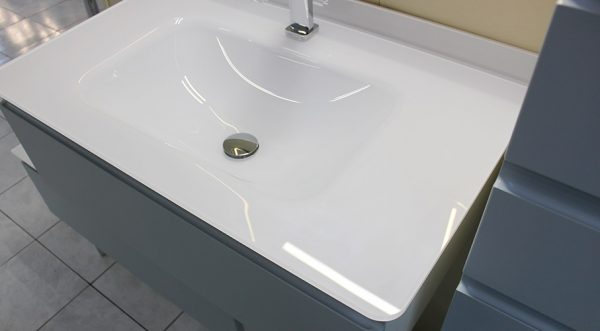 lavabo verre sur mesure blanc