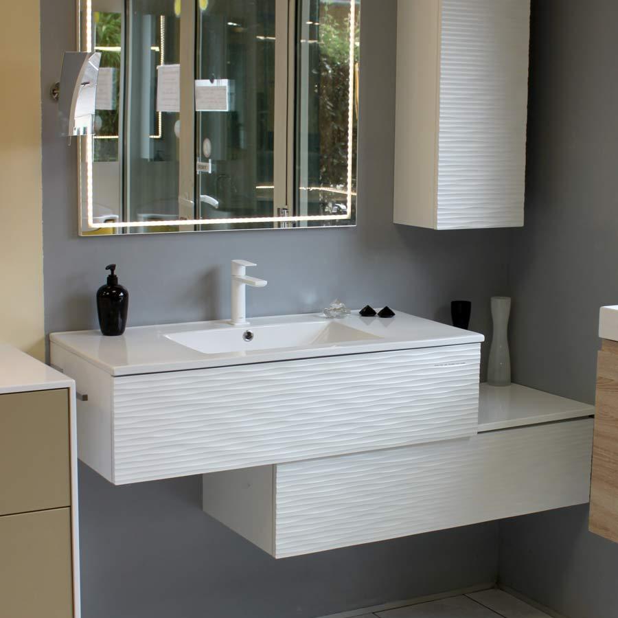 Atlantic Bain Morisseau Vertou décalé   meuble de salle de bain modulable pour petit espace