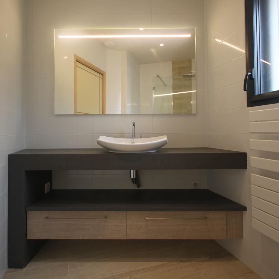 Atlantic Bain Morisseau Vertou lyre solution pour installer un meuble entre murs   atlantic