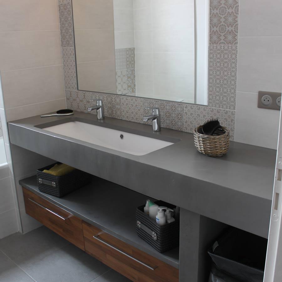 Orion Photo meuble en béton ciré pour salle de bains  Atlantic Bain