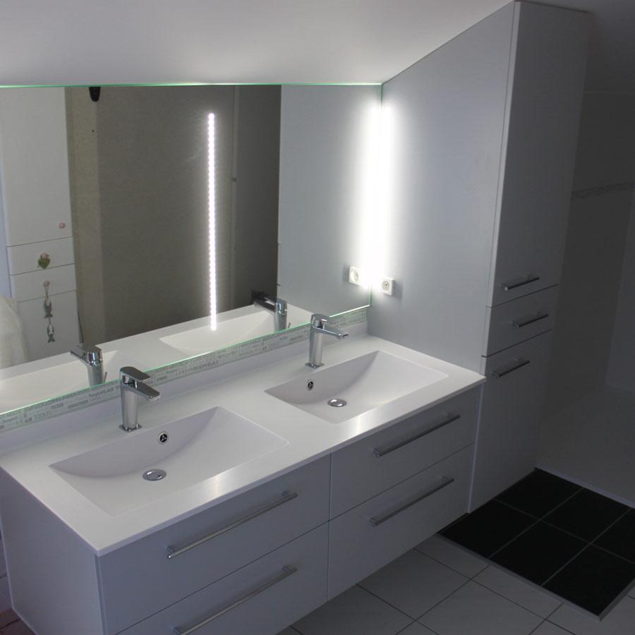 Atlantic Bain Morisseau Vertou augustin meubles pour salle de bains familiale sous pente