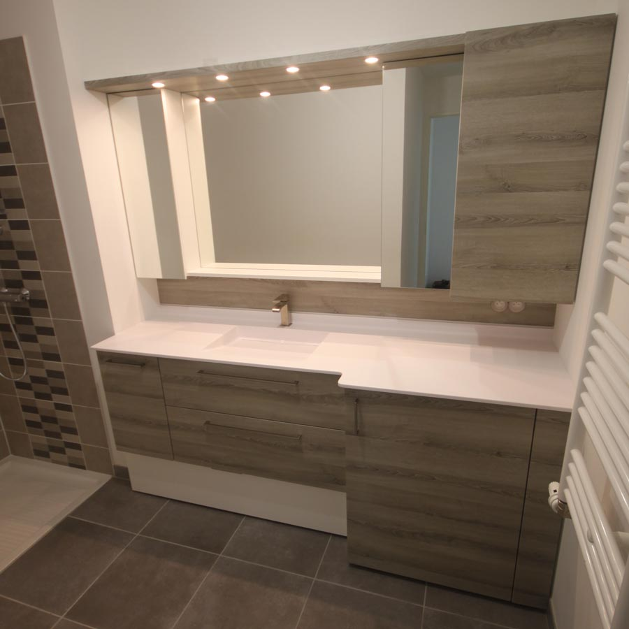 Lave Linge Dans Salle De Bain vancouver meuble salle de bains sur mesure avec lave-linge