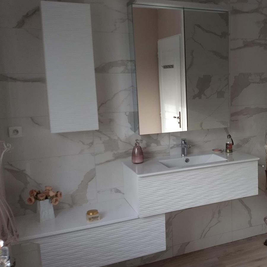 Atlantic Bain Morisseau Vertou rose meuble à suspendre modulable salle de bains   atlantic bain