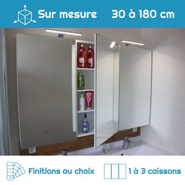 Armoire de toilette sur mesure 1 à 3 portes