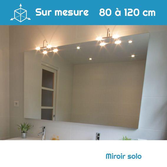 Miroir salle de bain largeur sur mesure à suspendre au mur